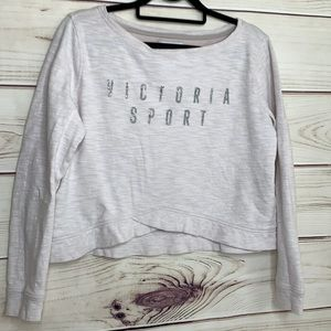 VICTORIA'S SECRET SPORT Pale Pink Glitter Logo Top